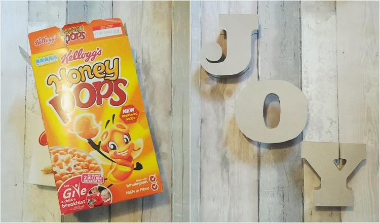 cereal packets in to letters