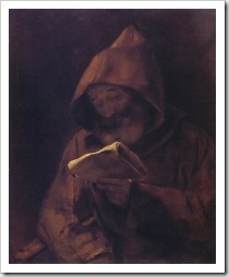 Monk Reading - Rembrandt