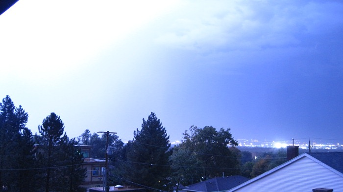 lightning flash in Salt Lake City