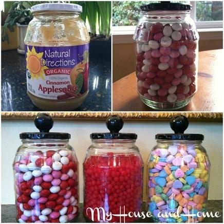 upcycle applesauce jars