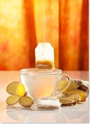 tea with ginger and lemon juice