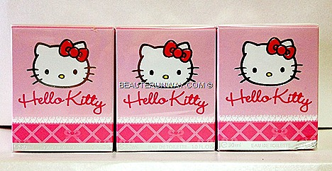 HELLO KITTY PERFUME EDT LIMITED EDITION WOMEN  FRAGRANCE COLORED POP SPRAYS IN SINGAPORE SEPHORA ION ALT BUGIS WIN GIVEAWAY