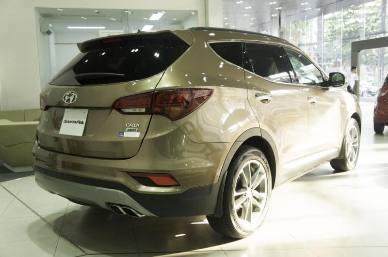 Xe ô tô 7 chỗ Hyundai Santafe Màu Nâu 08