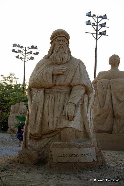 sculpturi nisip Burgas Leonardo da Vinci.JPG