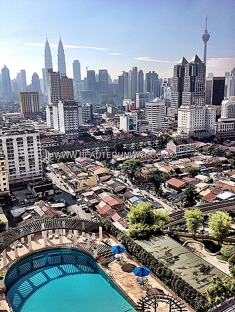 MALAYSIA INTERNATIONAL SHOE FESTIVAL 2012 Petronas Towers KL sunway putra world trade club suite room balcony view swimming pool Beaute Runway