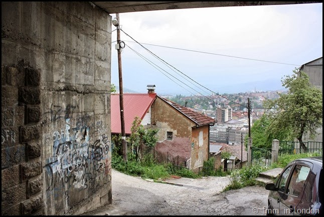 Under the highway in Sarajevo
