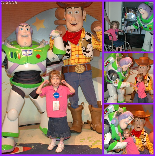 Meeting Buzz Lightyear and Woody!