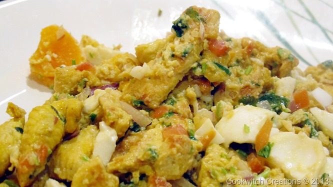 Scramble with whole yolks chopped and mixed in