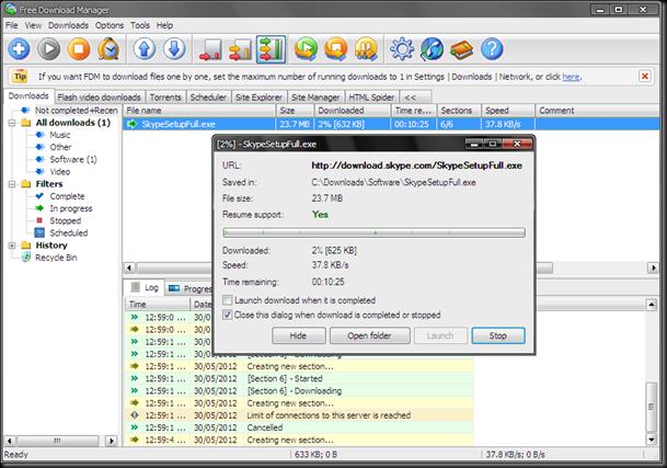 download free download manager  fdm  ver  3 9 build 1249   silent mode