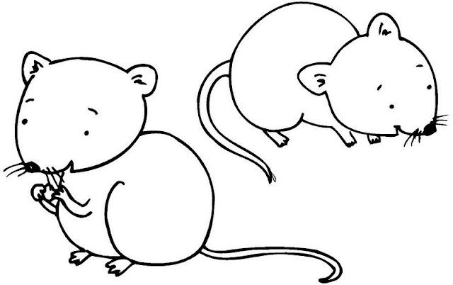 Dibujos De Ratones Para Colorear