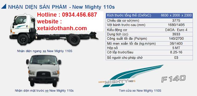 Ngoại hình Hyundai 110s