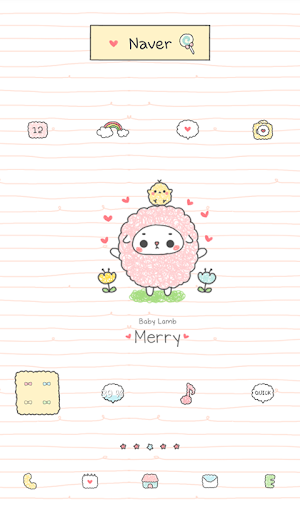 baby sheep hart dodol theme