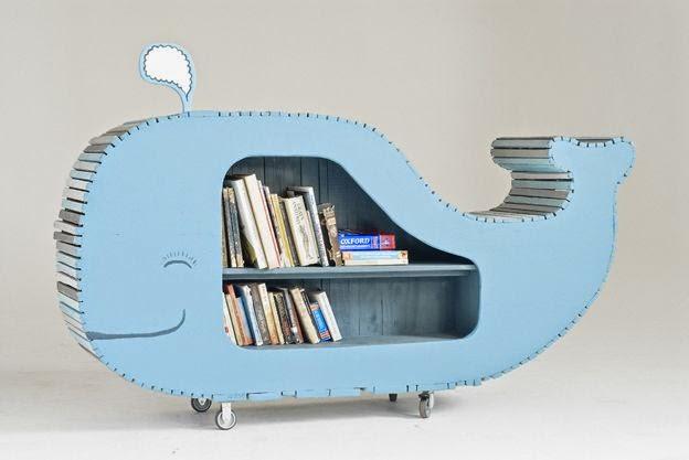 tủ sách cá voi
