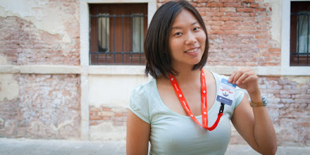 Lily Leung: pe gondola in Venetia