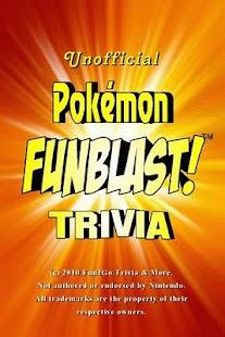 Pokemon FunBlast! Trivia LT - screenshot thumbnail