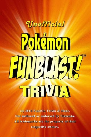 Pokemon FunBlast! Trivia LT- screenshot