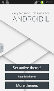 Keyboard Theme for Android L- screenshot thumbnail