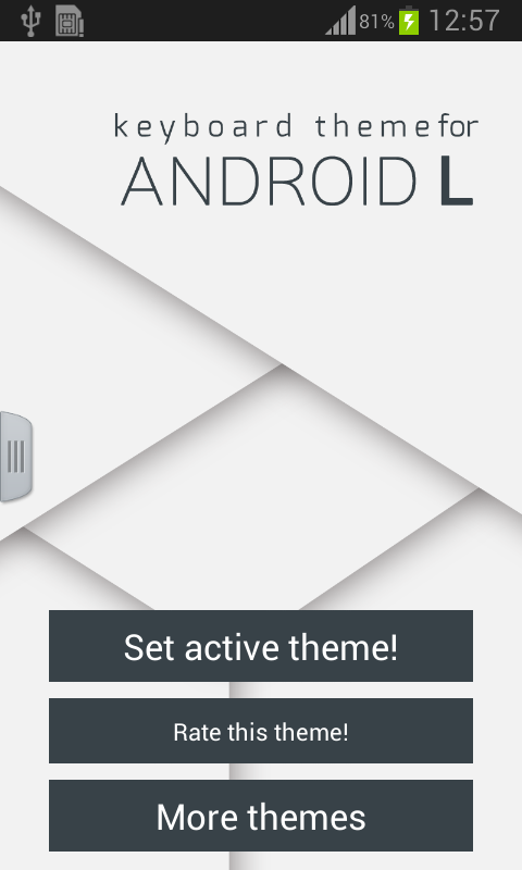 Keyboard Theme for Android L- screenshot