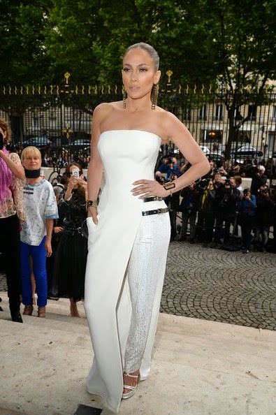 Jennifer Lopez Versace Front Row Paris Fashion
