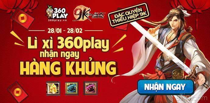Cả nhà ơi, chương trình Lì xì 360Play  Rinh Ngay Hàng