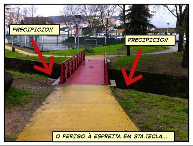 Precipícios em ciclovia sem proteção - o perigo à espreita na via pedonal ciclável do rio este