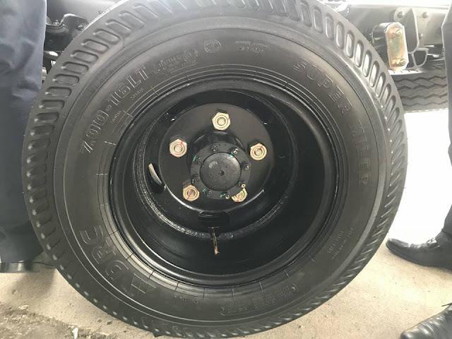Cỡ lốp xe tải IZ65 Gold Đô Thành 3.5 tấn thùng bạt sử dụng cùng cỡ 700R16