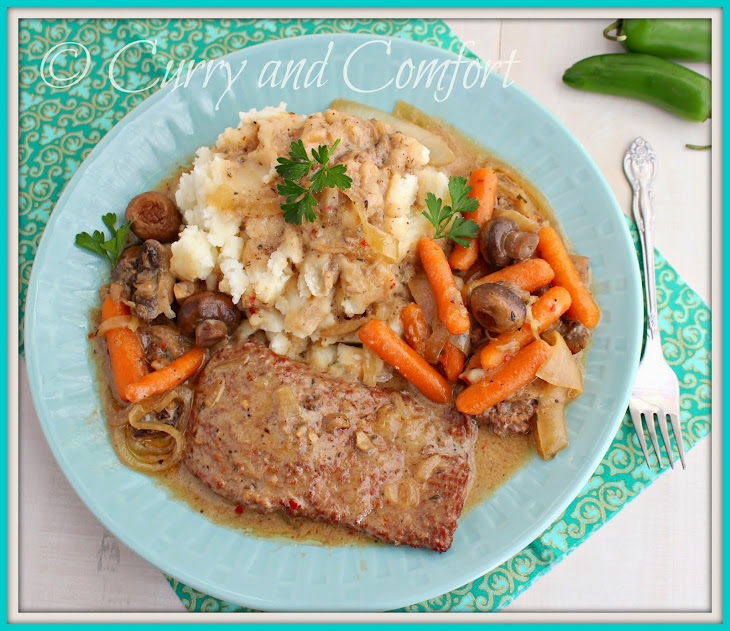 Slow Cooker Steak in Mushroom Gravy Recipe