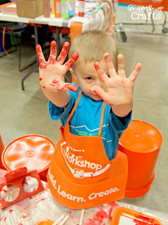 #digin painting at the Kids Workshop