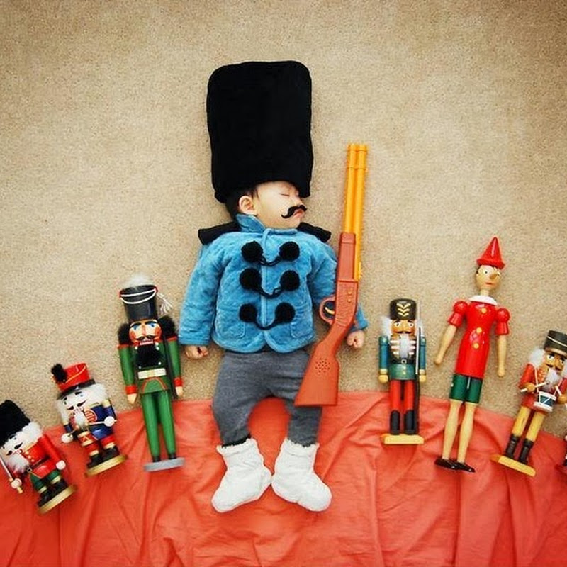 Creative Mom Uses Sleeping Baby to Create Adorable Photos
