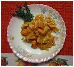 Паста в сливочном соусе с лососем. www.samapovar.ru
