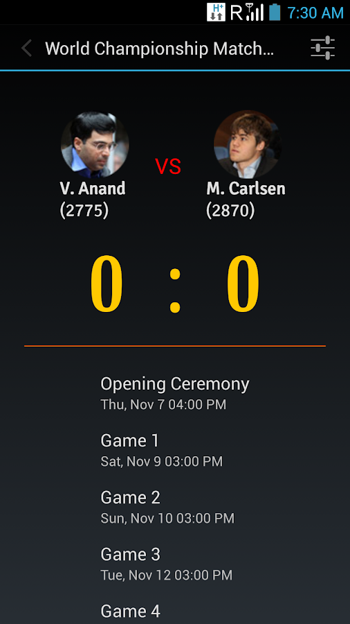 World Chess Championship 2013 - screenshot