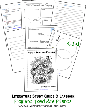 Literature Study Guide & Lapbook: Frog and Toad Are Friends