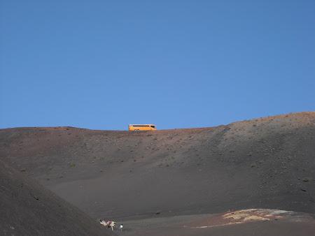 Ruta vulcanica în Timanfaya văzută de la Echadero de Los Camellos Lanzarote