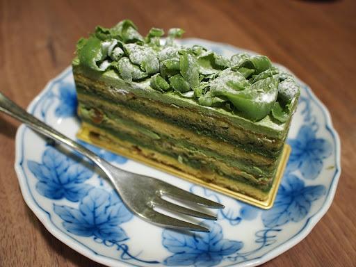 [写真]抹茶のケーキ