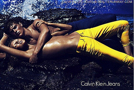 Calvin Klein Jeans Women Men Sprng Summer 2012 denim footwear accessories bags, eyewear jewelry color palette rebel leather