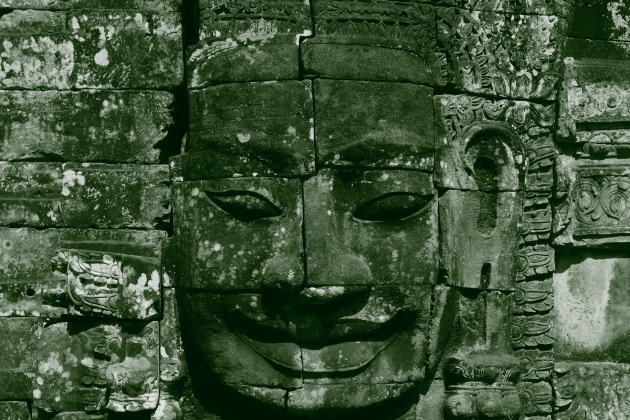A smiling face at Bayon Temple