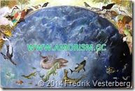 DSC00824.JPG Klara Zetterholm målninng valar fiskar dinosaurier fåglar Liljevalch 2014 med amorism