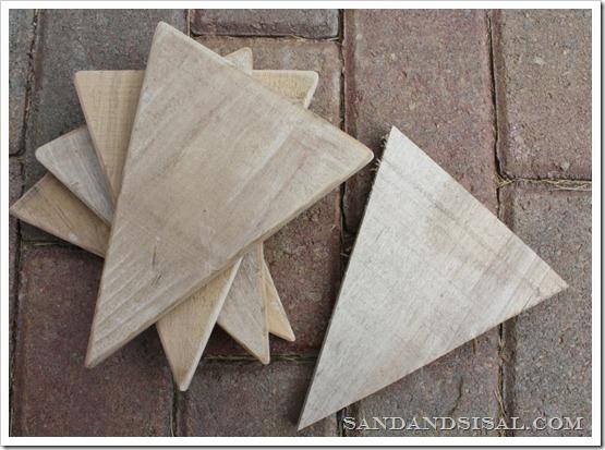 sanded pallet wood
