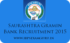 Saurashtra Gramin Bank 105 Officer & Assistant Recruitment 2015