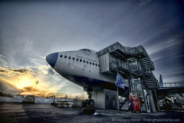 Jumbo stay nose 747 hostel Sweden Stockholm scaled