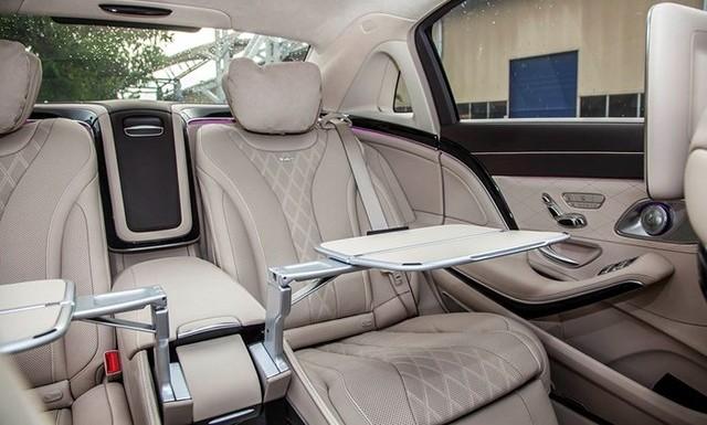 Nội Thất Xe Mercedes Benz S600 MAYBACH Màu Trắng 05