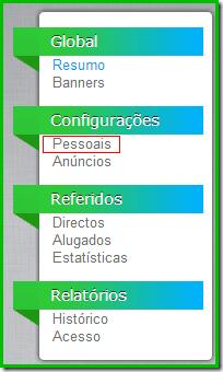 Configurações pessoais - AdAlert