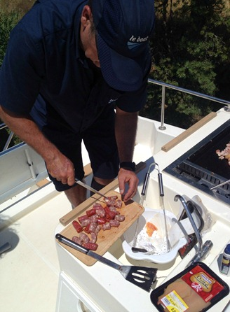 Captain Cooking on Le Boat