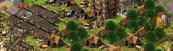 Uma bonita cidade em Stronghold.