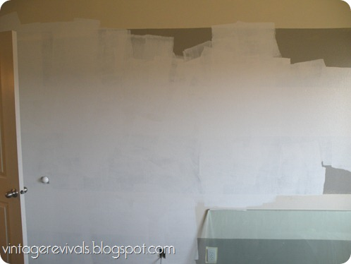 Undoing A Diy How To Repaint A Striped Wall Vintage Revivals