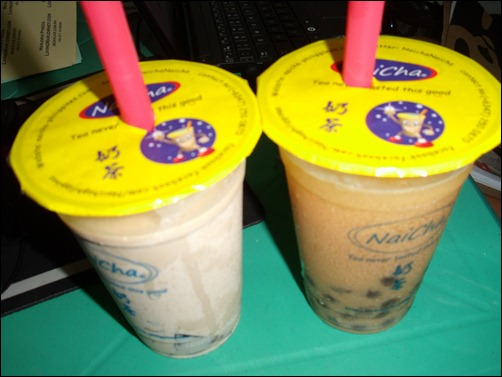 16oz Coffee Jelly (left) and Yakult Green Tea (right)