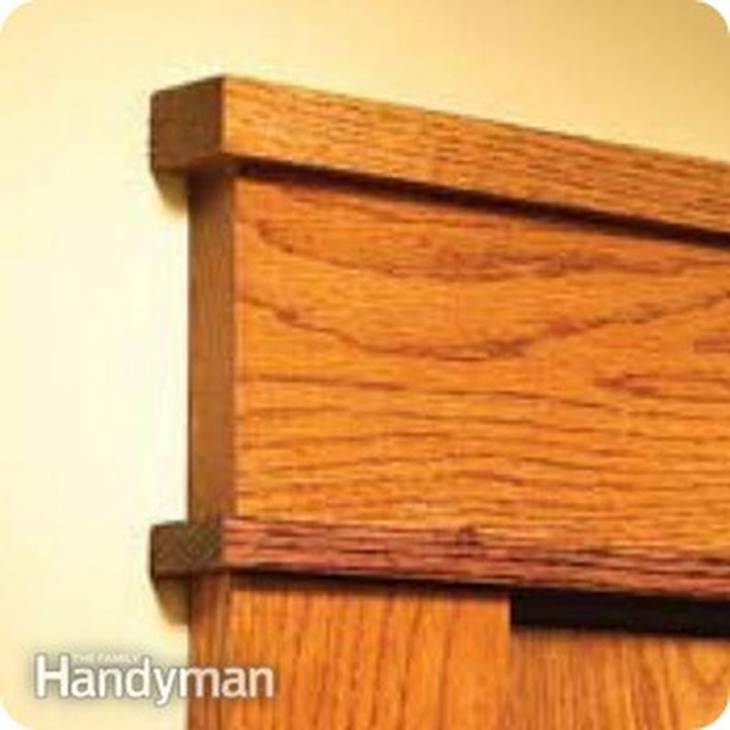 Diy Craftsman Door Trim From Thrifty Decor Chick