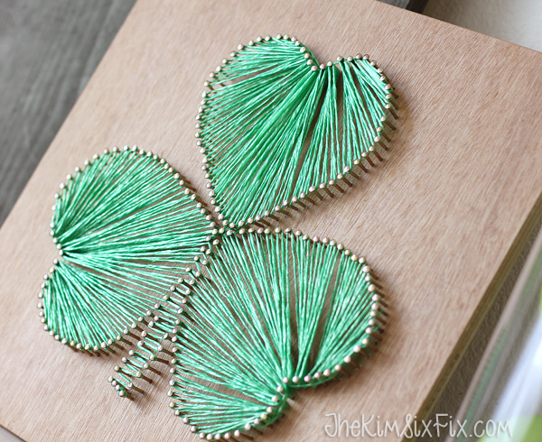 Shamrock heart string art