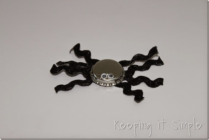 Halloween headband with bottlecap spider (3)
