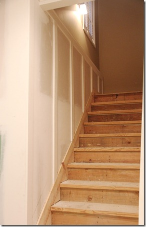 basement stairs board and batten
